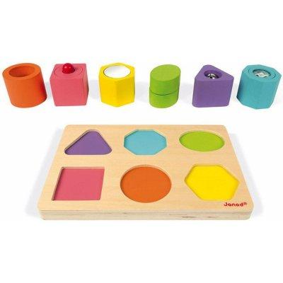 Janod smyslové vkládací puzzle tvary a zvuky