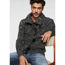Cipo & Baxx Pletený svetr Checker černý melír