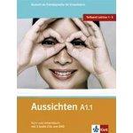 Aussichten A1.1 Kurs-Arbeitsbuch - První díl šestidílného učebního souboru němčiny pro dospělé studenty s CD a DVD - L.Ros El Hosni, O. Swerlowa, S. Klötzer