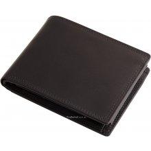 Pánská kožená peněženka na šířku černá