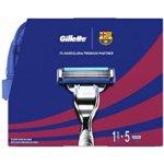 Gillette Mach3 FC Barcelona Holicí strojek Mach3 + Náhradní hlavice Gillette Mach3 5 ks + Zklidňující gel na holení Mach3 Extra Comfort Shave Gel 75 ml dárková sada