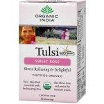 Organic India Tulsi Sladká růže čaje 18 x 1.6 g