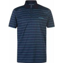 d79f32b6a Pierre Cardin Striped Sports Poly Polo Shirt Mens Navy/Sky