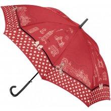 Deštník Cachemir Paris & London - holový dámský deštník červená Paris
