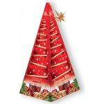IMPRA Vánoční stromeček červený Cinnamon Blitz černý čaj s mandle 15 x 2 g