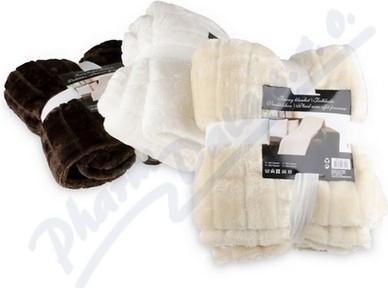 BX 20B Hřejivá deka POLAR hnědá 130x150