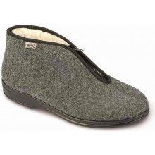 Bačkory papuče důchodky Befado 100M047 teplé šedé na zip 851afd4310