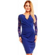 5ec6339862e Kartes Moda šaty KM56K-1 s obálkovým výstřihem modrá