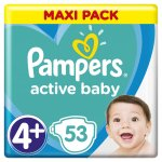 Pampers Active Baby-Dry 4+ Maxi Plus 9-16 kg 53 ks