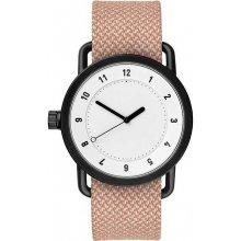 TID Watches No.1 White / Salmon Twain Wristband