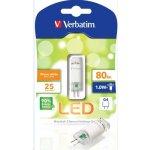Verbatim LED žárovka 1W / G4 / 12V / 2700K / 80lm / teplá bílá