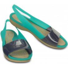 Crocs Colorblock Flat Tropical modré