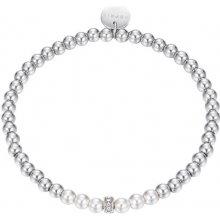 Esprit Ocelový náramek s perličkami JW52906