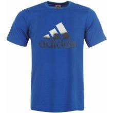 Adidas Performance Logo T Shirt Mens Blue