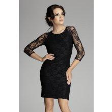 krajkové šaty M076 černá