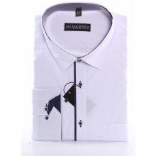 91a448e2af3 Martex Pánská košile s tmavě modrým lemem