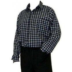 MAGG Pánská flanelová košile s dlouhým rukávem  černo šedá ... 0d6f6b4d6b