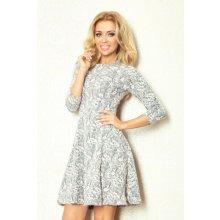 a62ab886702 Numoco dámské společenské a casual šaty s rozšířenou sukní Cloud2 49-11 s  plastickým motivem