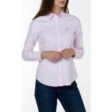 Gant dámská Košile GANT STRETCH OXFORD GINGHAM SHIRT růžová