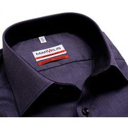 Marvelis Modern Fit – fialová košile s jemnou strukturou - prodloužený rukáv 033d8c926c