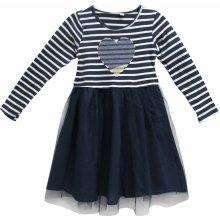 Topo Dívčí šaty se srdíčkem tmavě modré