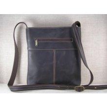 kožená taška přes rameno 459-101 tmavě hnědá d96678f78d2