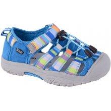 Bugga Chlapecké pruhované sandály modré