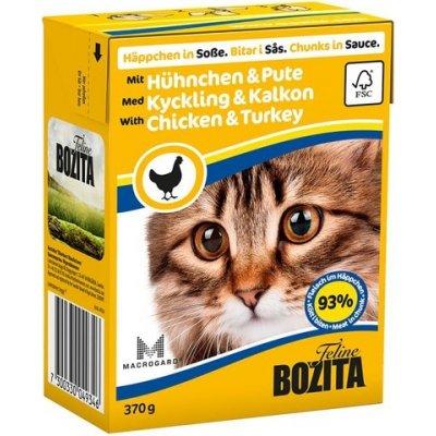 Bozita Cat s kuřecím & krůtím masem Tetra Pak karton 370 g