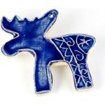 Norské motivy - tmavě modré keramické ozdoby Podkova