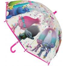 Disney Brand Dívčí deštník Trollové barevný