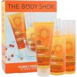 The Body Shop Vitamin C denní pleťový krém Skin Boost 30 ml + pleťový peeling Microdermabrasion 75 ml + pleťová voda Energising Face Spritz 100 ml dárková sada