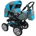 Babysportive Sportive X5 2015 + autosedačka šedý nebesky modrý