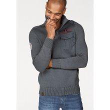Rhode Island Pletený pulovr, středně šedá washed