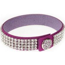 Swarovski Dazzle Crystal fialový třpytivý náramek 2211