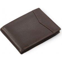 Arwel Pánská kožená peněženka 513 12809 s vnitřní zápinkou tmavě hnědá