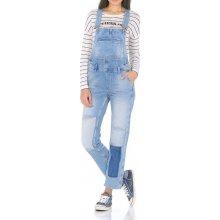 8b5ecd9a664 Pepe Jeans dámské modré džíny Billie s laclem