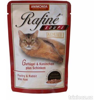 Animonda Rafiné Soupé Adult drůbež & králík & šunka 100 g