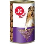 JK Animals masová konzerva pro psy s jehněčím masem 1230 g