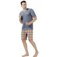 Pánské pyžamo Florida - kárované kraťasy