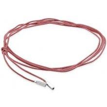 Pandora růžový textilní náramek/nahrdelník se stříbrným zakončením 390961CPK-100