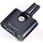 Aten CS-22U Datový přepínač 2-port KVM USB mini, 1m kabely, DO