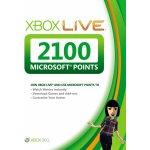 Microsoft Xbox Live předplacená karta 2100 bodů