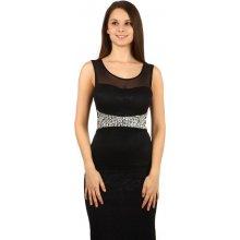 Dlouhé plesové šaty s krajkou 100007 černá 4a06b2a84a
