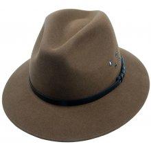 Pánský plstěný klobouk khaki Q5001 11044 10-11925 15AA 75fe15d772