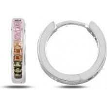 8bbffed4a Olivie stříbrné náušnice kroužky colors 2622