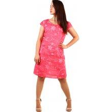724a1c47f2e YooY dámské plážové lněné šaty- i pro plnoštíhlé růžová