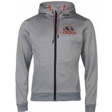 Adidas Full Zip Hoody Mens Grey