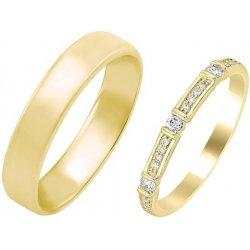 Eppi Damsky Vintage Prsten S Diamanty A Pansky Komfortni Snubni