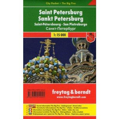 plán Petrohrad 1:15 t. kapesní laminovaný