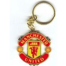 Přívěsek na klíče FC Manchester United: znak (4,5 x 4,5 cm) [314591] CurePink